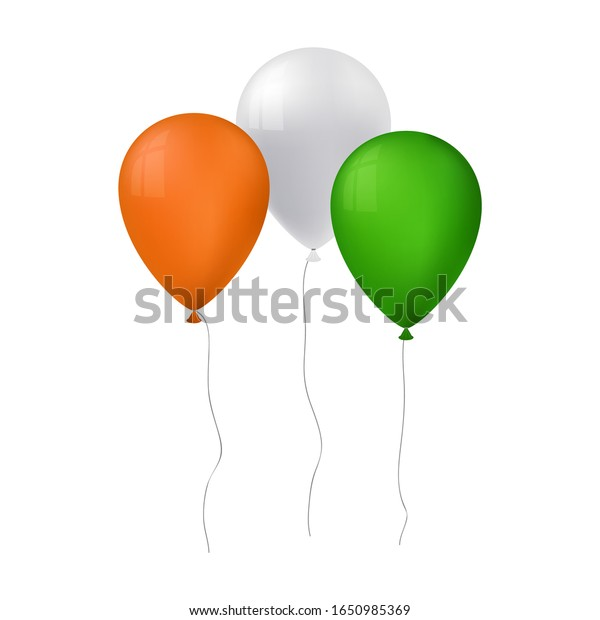 vector illustration of tree balloons for st patricks day
