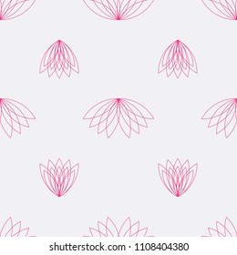 vector illustration of trendy modern lotus flower pattern collection
