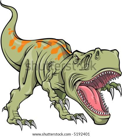Vector Illustration T Rex Dinosaur Stock Vector Royalty Free