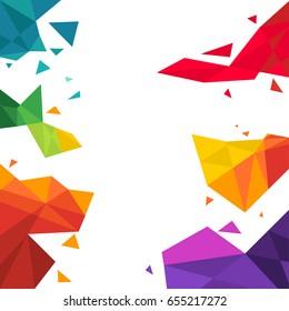 vector illustration of triangle  Multicolored Background