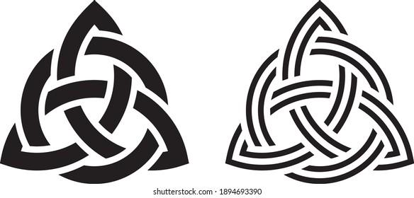 Vector illustration of the Trinity symbol