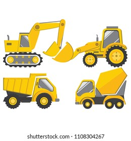 Vector illustration of truck for construction