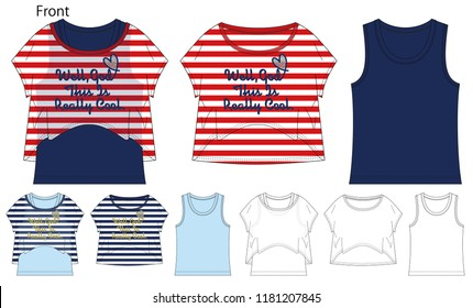 Girls Tops Stock Vectors, Images & Vector Art | Shutterstock