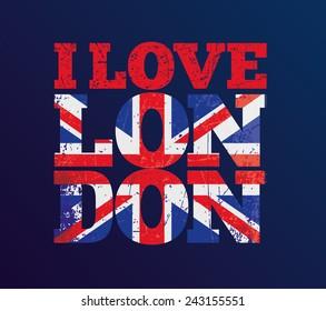 vector illustration, t-shirt design i love London , t-shirt graphics
