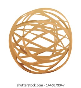 Vector illustration of tumbleweed and dry symbol. Collection of tumbleweed and wind vector icon for stock.