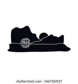 Vector illustration of tumbleweed and rock icon. Collection of tumbleweed and dry stock vector illustration.
