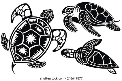 Turtle Silhouette Images Stock Photos Vectors Shutterstock