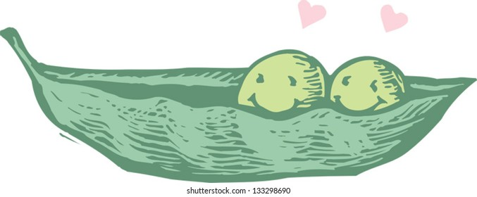 Two Peas In A Pod Images Stock Photos Vectors Shutterstock