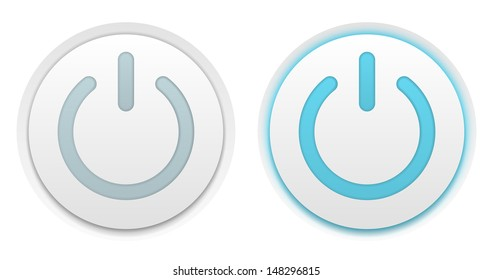 Vector illustration of two power buttons