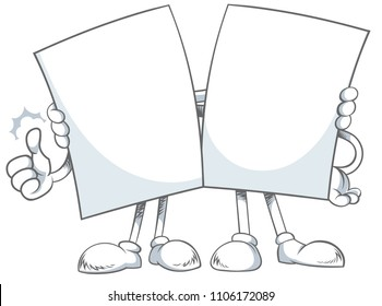 Vector illustration of a two white cartoon characters giving a hug.
