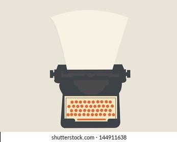 Vector Illustration of a Typewriter