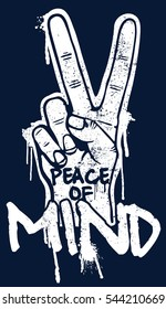 Vector illustration with Typography - peace sign - Hand drawn hipster creative typography poster, t-shirt, card.