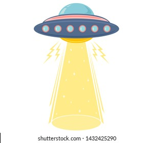 Vector illustration of a ufo. Vector cartoon of a ufo. World UFO day