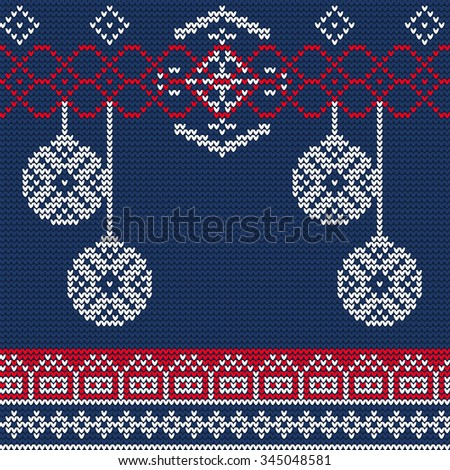 db16f55ac63f8 Vector Illustration Ugly Sweater Seamless Pattern Stock Vector ...