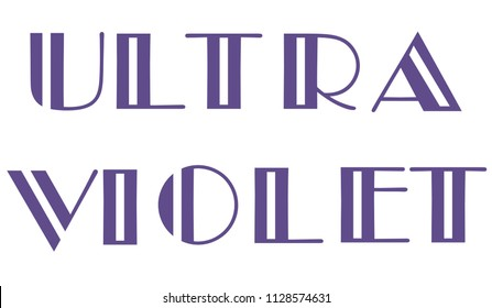 vector illustration of ultra violet color of the year 2018.
