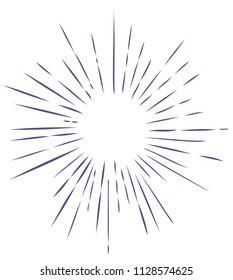 vector illustration of ultra violet sun rays background
