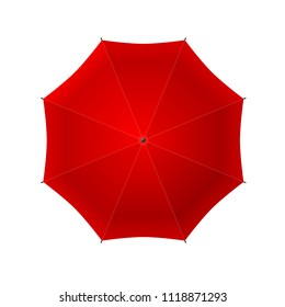 Vector illustration. Umbrella. Top view.