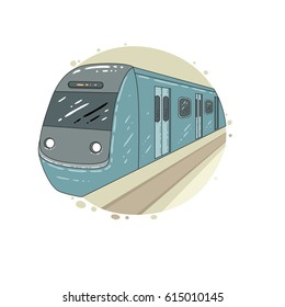 Vector illustration with underground train
