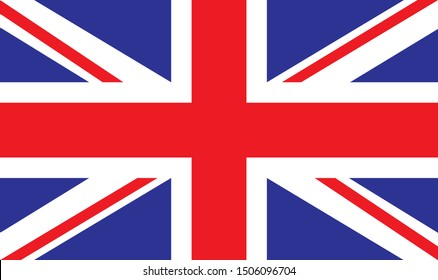 vector illustration of United Kingdom flag