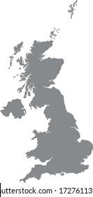 vector illustration of United Kingdom map
