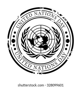 Vector illustration of United Nations Day Stamp.