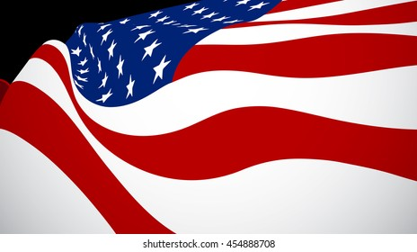 Vector illustration of United States of American flag. USA flag