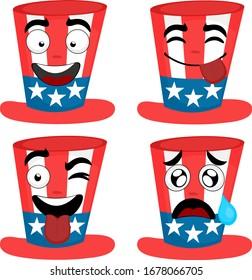 Illustration vectorielle du chapeau de dessin animé américain