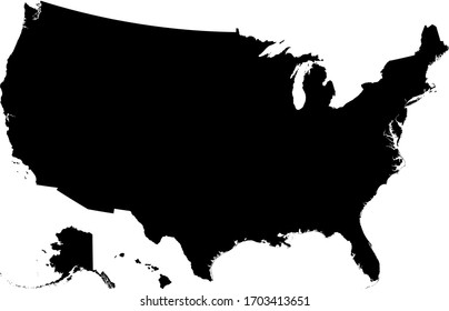 vector illustration of United States map