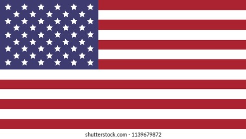 Vector illustration of US national flag.