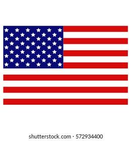 vector illustration of USA flag