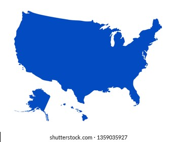 vector illustration of USA map