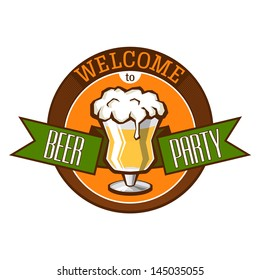 Vector illustration for usage in any materials associated with the beer party.  All fonts are outlines. The fonts was used: Ultra Condensed Sans Serif, Hermeneus One-Regular (www.dafont.com).
