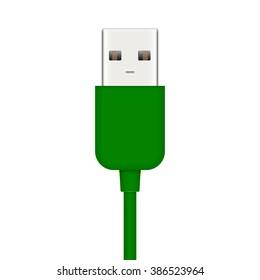 Vector illustration of usb plug