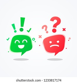 vector illustration user experience feedback concept different mood speech bubble emoticons emoji icon positive, negative emotion, good bad feedback, happy unhappy client or customer