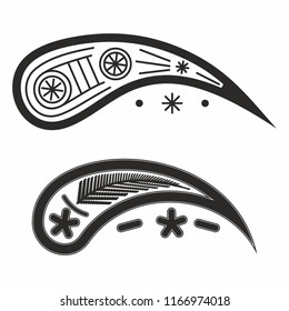 Vector illustration of the Uzbek national pattern Kalampir