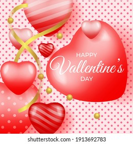 Vector illustration of valentines day graphics, happy valentine's day background. suitable for happy valentine's day greetings