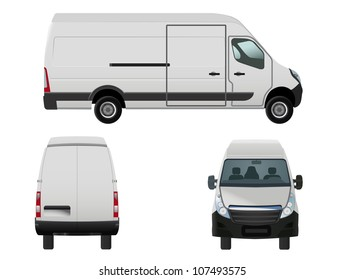 vector illustration of van to put your own design on, eps 8 file, raster version available