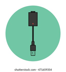 vector illustration of vape battery icon