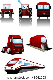 vector illustration for a variety vehicle icon