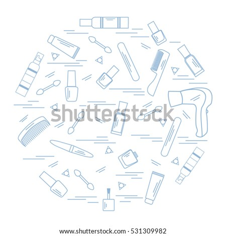Vector Illustration Various Accessories Care Your Stock Vector