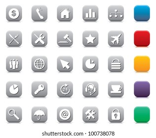 Vector illustration of various business, computer, internet icons.