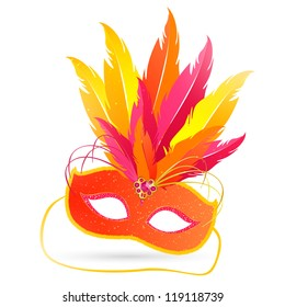 Vector Illustration of a Venetian Mask