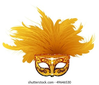 Vector illustration of venetian mask. Can be scale to any size.