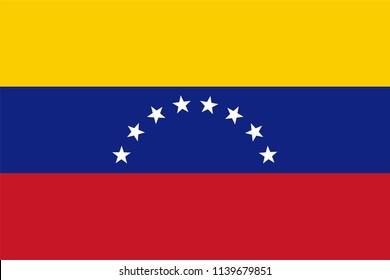 Vector illustration of Venezuelan national flag.