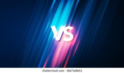 Vector Illustration Versus Screen For Fight, Battle Or Sport. VS Background Concept.