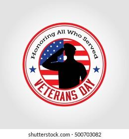 Vector illustration of veterans day, 11th November, flag, America, USA, parade.