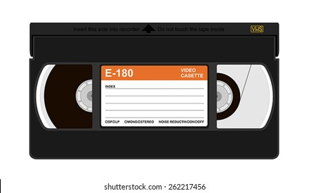 Vector illustration of a VHS cassette