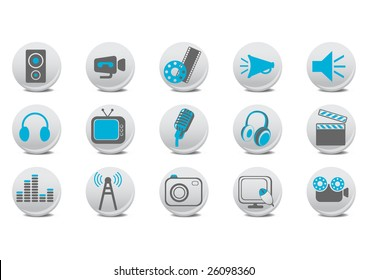 Vector illustration of video and audio buttons .You can use it for your website, application or presentation.