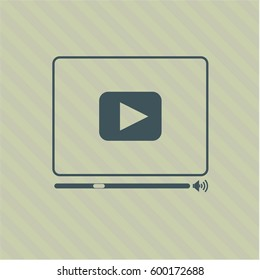 Vector illustration of Video Player icon