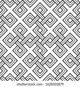 Vector Illustration of a Viking Nordic Seamless Pattern - mystic, decorative interwove shapes. Lines, engraving and fill color neatly in separate well-defined Layers.